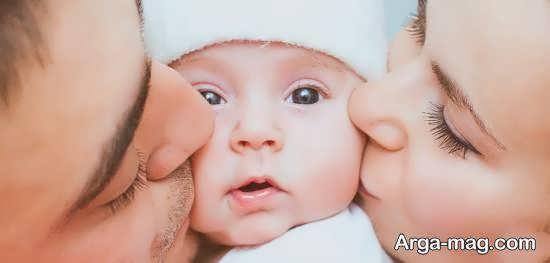 انواع کلکسیون فیگور عکس نوزاد با پدر و مادر
