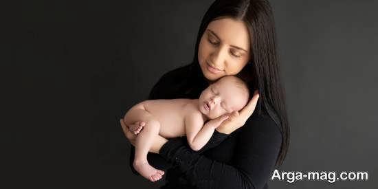 کلکسیونی زیبا از ژست تصویر نوزاد با پدر و مادر