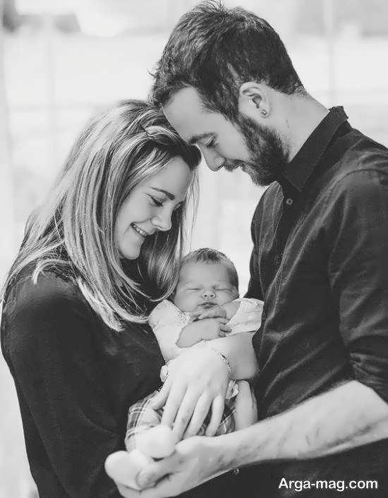 مجموعه ای بینظیر از فیگور عکس نوزاد با پدر و مادر