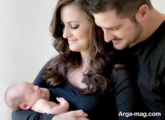 کلکسیون ناب و نفیس ژست تصویر نوزاد با پدر و مادر