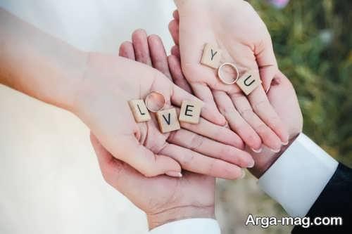 ایده عکس با حلقه ازدواج