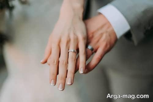 ایده عکس عروسی با حلقه