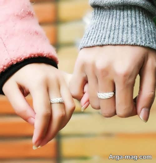فیگور عکس دو نفره با حلقه ازدواج