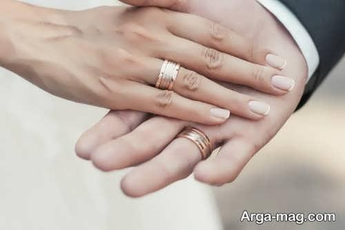 عکس عروس و داماد با حلقه