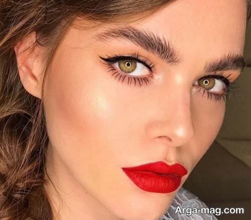 آرایش چشم دخترانه زیبا و جذاب