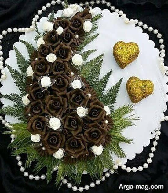 تصویر زیبای تزیینات حنا عروس