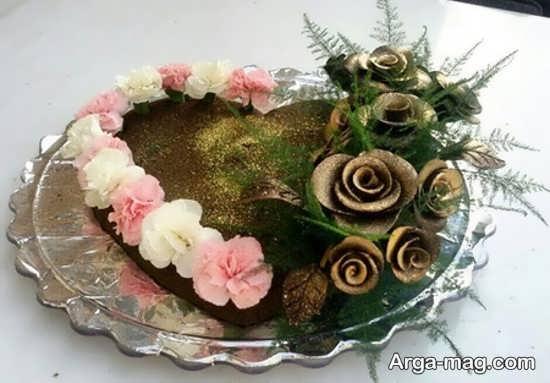 حنا تزئین شده با گل های زیبا