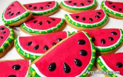 تزیین شیرینی به صورت هندوانه