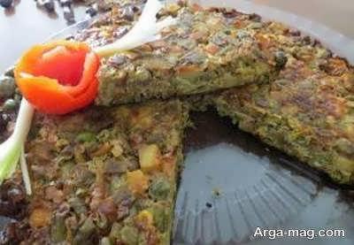 طرز پخت کوکوی حبوبات یکی از انواع کوکوها