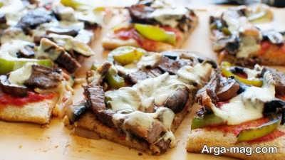 طرز تهیه پیتزا استیک
