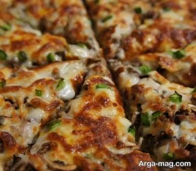 دستور پخت پیتزا استیک