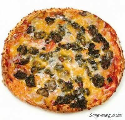 طرز تهیه پیتزا قورمه سبزی خوشمزه و لذیذ