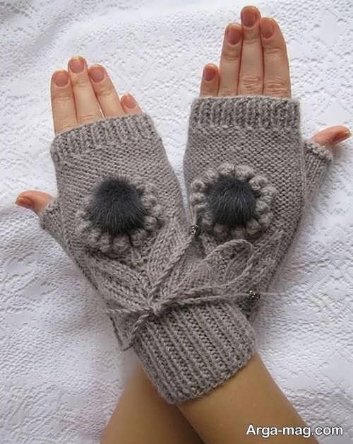 دستکش بافت کار شده