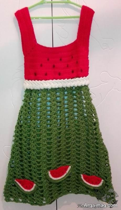 لباس بافتنی مخصوص شب یلدا دخترانه