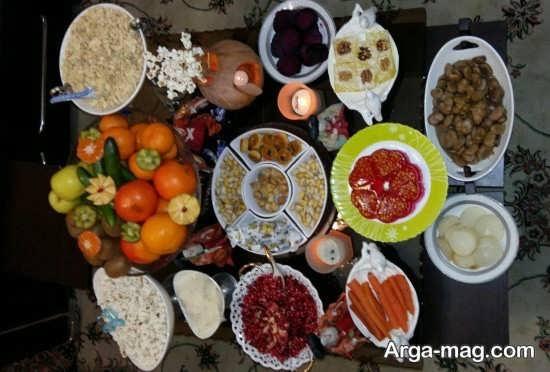 جذاب ترین تزئینات میز شب یلدا