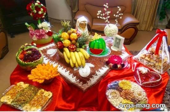 زیباترین تزئینات میز شب یلدا