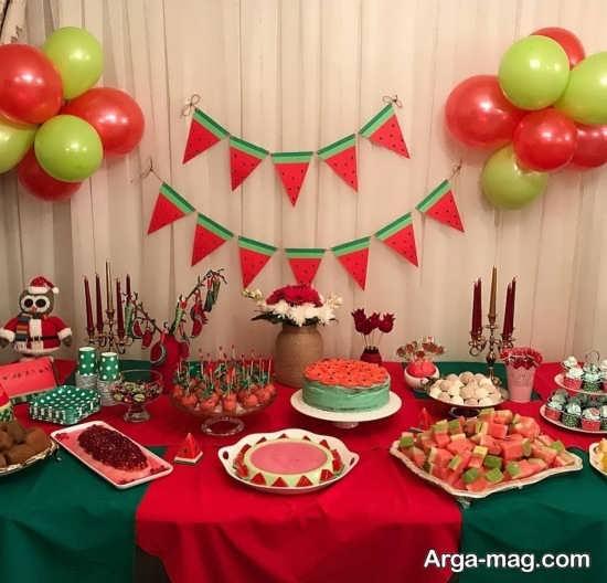 تزئینات شکیل میز شب یلدا