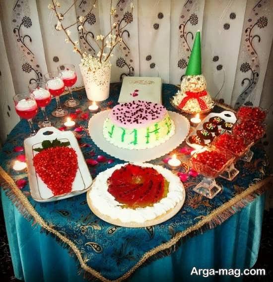 تزئینات متنوع میز شب یلدا