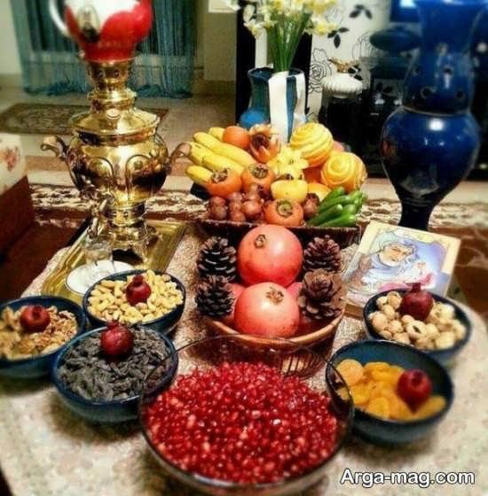 تزئینات باحال میز شب یلدا
