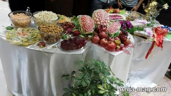 تزئینات هنرمندانه میز شب یلدا