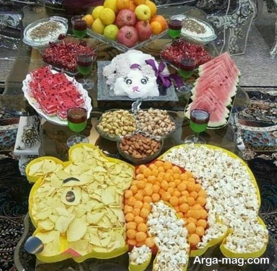 مجموعه زیبا از تزیینات میز شب یلدا