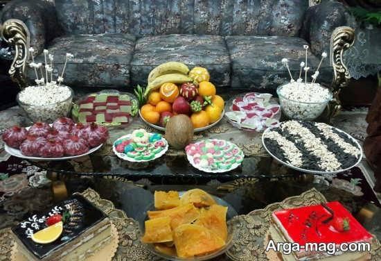 تزئینات شیک میز شب یلدا