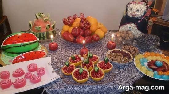تزئینات خاص میز شب یلدا