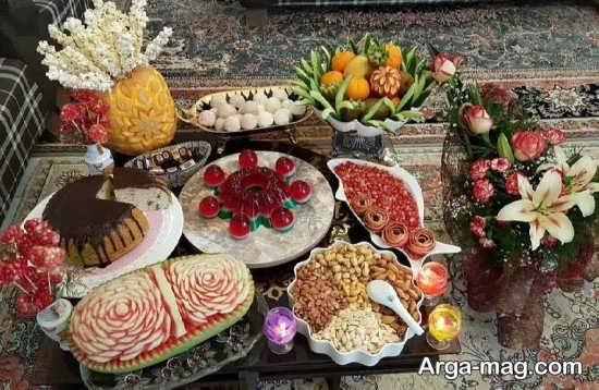 تزئینات جذاب میز شب یلدا