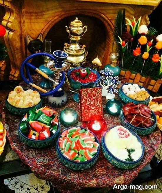 تزئینات زیبای میز شب یلدا