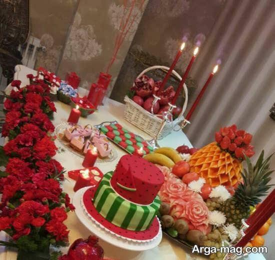 باحال ترین تزئینات میز شب یلدا