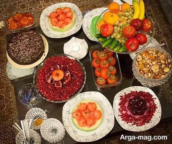 خلاقانه ترین تزئینات میز شب یلدا