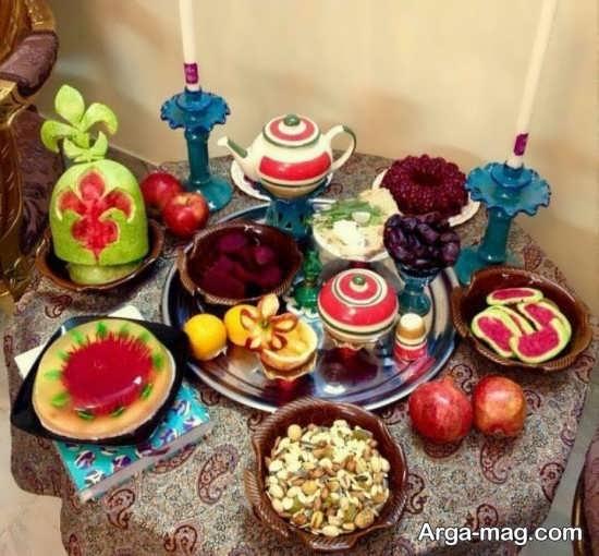 متفاوت ترین تزئینات میز شب یلدا