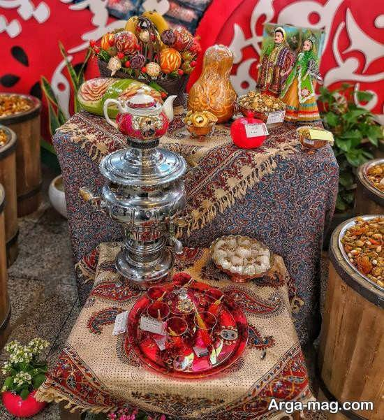 ایده های قشنگ برای تزیینات میز شب یلدا
