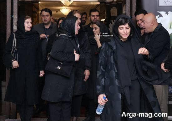 حضور لیلا حاتمی در مراسم یادبود مظاهر مصفا
