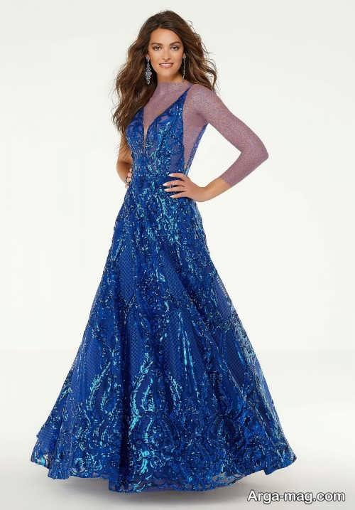 مدل لباس مجلسی ۲۰۲۰ آبی
