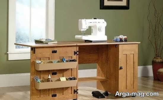 انواع ایده زیبا و لوکس مدل میز چرخ خیاطی
