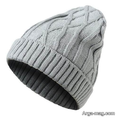 کلاه بافت خاکستری