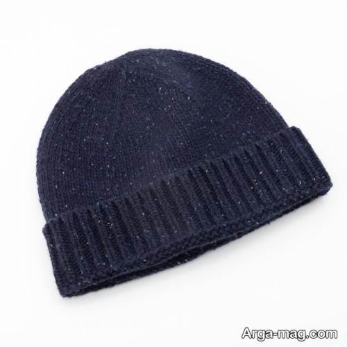 کلاه بافت ساده و زیبا
