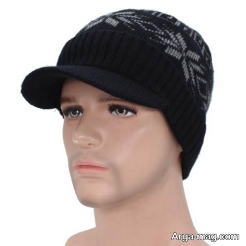 کلاه بافت طرح دار