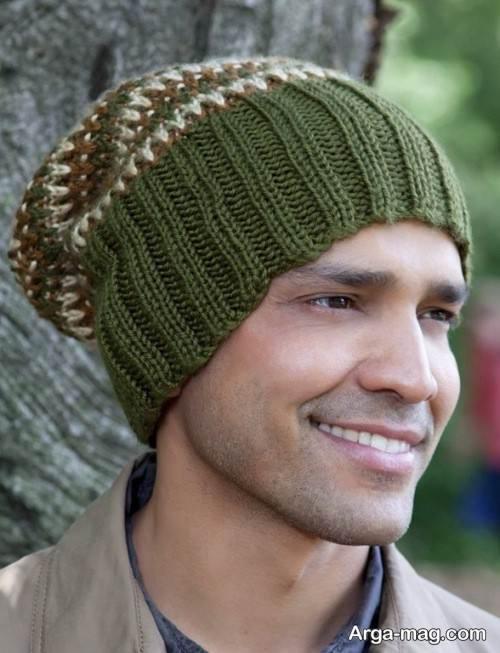 کلاه طرح دار بافت