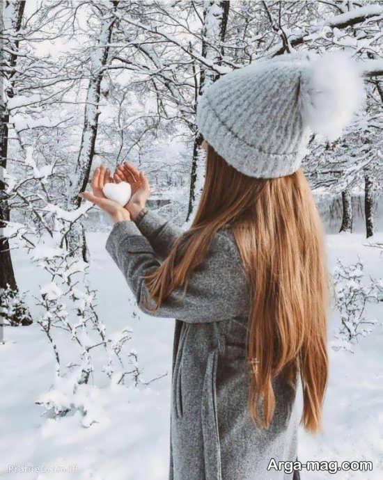 تصویر زیبا از دختر زمستانی