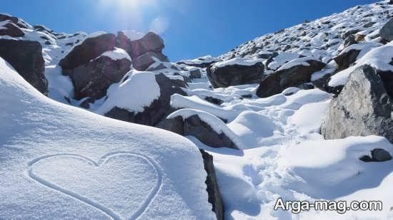 عکس نوشته زیبا و احساسی برای زمستان