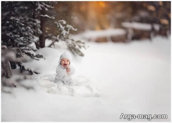 تصویر بچه زیبا برای زمستان
