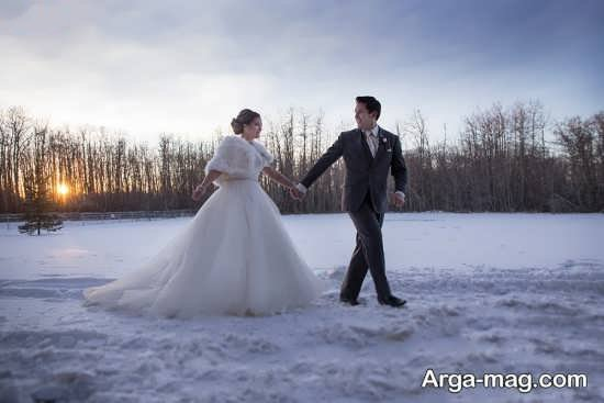 عکس نوشته زمستانی عاشقانه دو نفره
