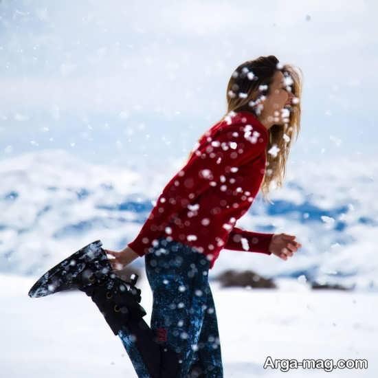 عکس زیبا و جذاب برفی