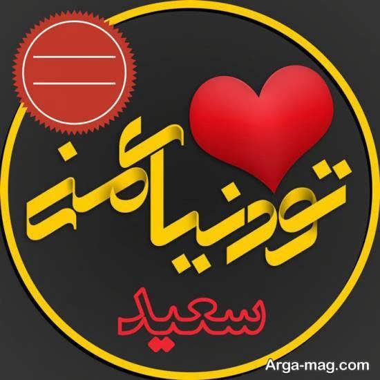 عکس پروفایل اسم سعید با طرح جدید