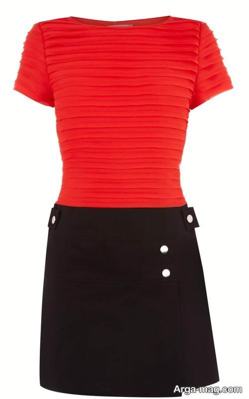 لباس مشکی و قرمز زنانه