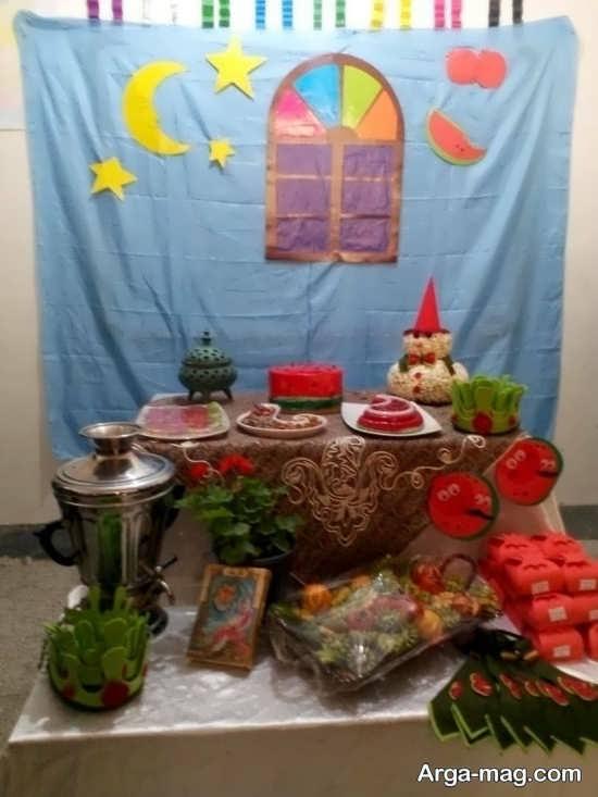 جذاب ترین تزیینات شب یلدا برای مدرسه