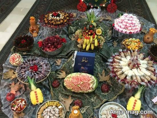 تزئینات ایده آل شب یلدا برای مدرسه