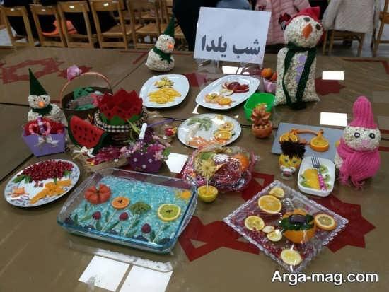 تزیین شب یلدا برای مدرسه با ایده منحصر به فرد